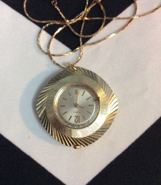 product details: VINTAGE POCKET WATCH NECKLACE SNAKE CHAIN photo