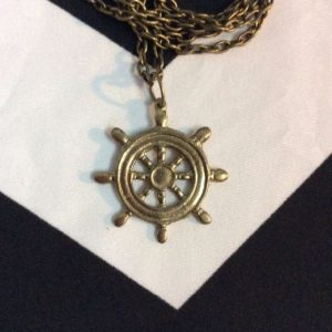 BOATERS WHEEL CHUNKY CHAIN NECKLACE 1