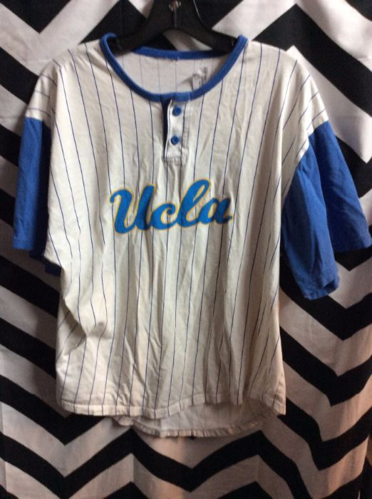 super popular b7f48 8f488 UCLA BASEBALL JERSEY W/PINSTRIPED COTTON FABRIC