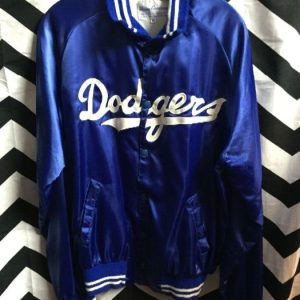 Los Angeles Dodgers Satin button up jacket 1
