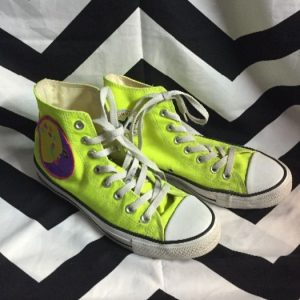 NEON YELLOW HIGH TOP CHUCK TAYLOR CONVERSE 1