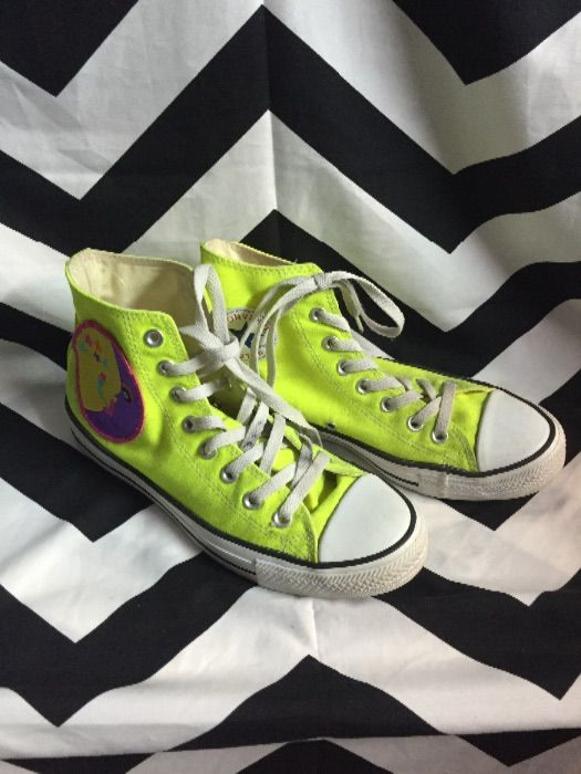 356a040466df CONVERSE HIGH TOP SNEAKERS – CHUCK TAYLOR – NEON YELLOW » Boardwalk Vintage
