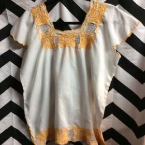 SS TOP MEXICAN STYLE YELLOW EMBROIDERY 1