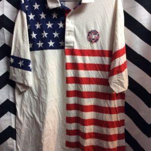 SS BD POLO T SHIRT AMERICAN FLAG PRINT US OPEN 1