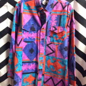 WRANGLER COWBOY ABSTRACT PRINT SHIRT 1