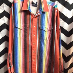 WRANGLER COWBOY CUT STRIPES PATTERN SHIRTS 1
