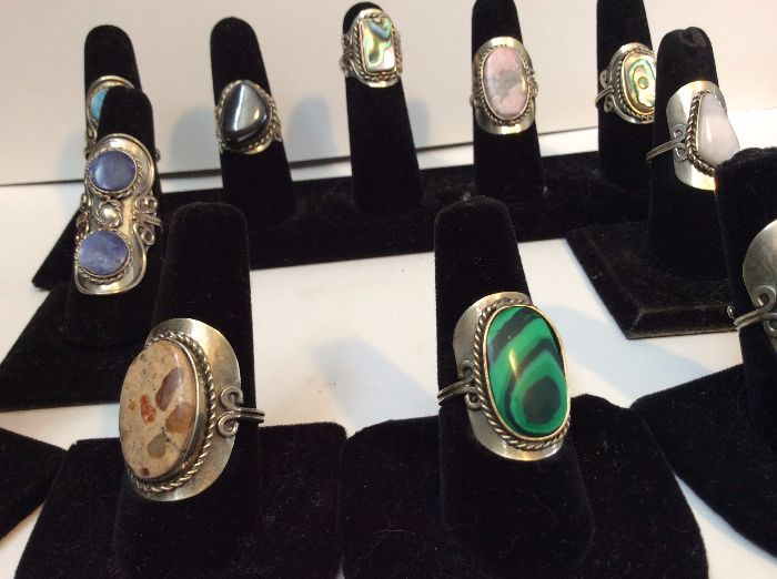 product details: LARGER PERUVIAN RINGS ASST photo