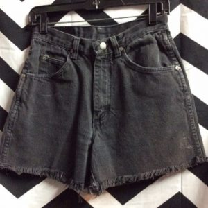 WRANGLE RED TAB CUTOFF DENIM SHORTS ZIP FLY 1