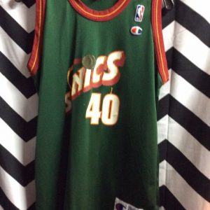 SEATTLE SUPER SONICS JERSEY SMALL FIT SHAWN KEMP 40 SONICS 1