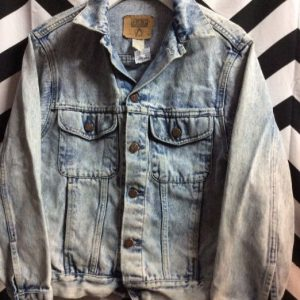 CLASSIC BLEACHED WASHED DENIM JACKET SMALL FIT #KILLER 1