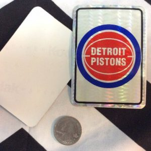 STICKER DETROIT PISTONS VENDING CARD *old stock 1