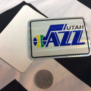 STICKER UTAH JAZZ VENDING CARD *old stock 1