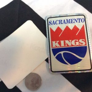 STICKER SACRAMENTO KINGS VENDING CARD *old stock 1