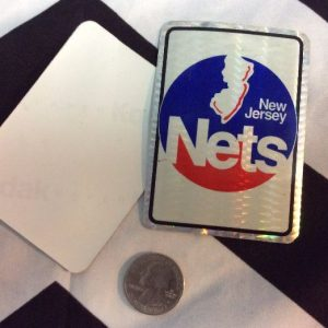 STICKER NEW JERSEY NETS VENDING CARD *old stock 1
