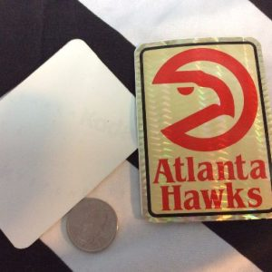 STICKER ATLANTA HAWKS VENDING CARD *old stock 1