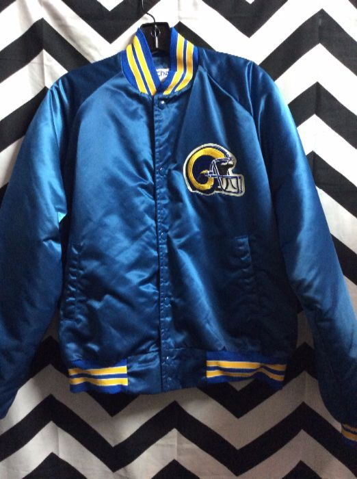 bf56eff0 Los Angeles Rams Chalkline jacket with letters on back
