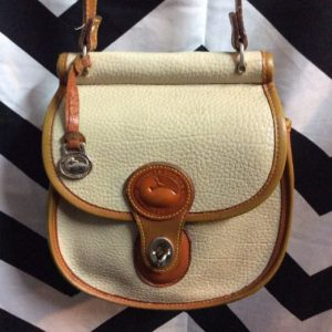 STRUCTURED LEATHER CROSSBODY PURSE as-is 1