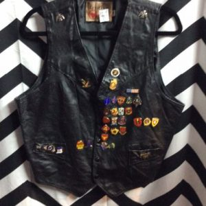 WOMAN FRINGE LEATHER VEST LACEUP CONCHO SIDE 1