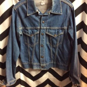 1960s DENIM JACKET CLASSIC BLUE SMALL FIT 1