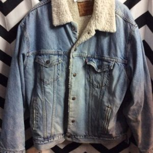 1990S SHERPA LINED LEVIS DENIM JACKET BIG SIZE 1