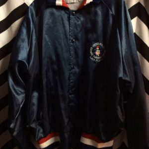 SATIN BUTTON UP JACKET OLYMPIC TRAINING CENTER 1
