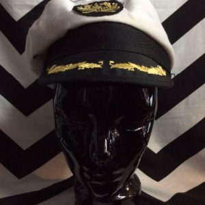 EMBROIDERED CAPTAINS HAT as-is 1