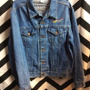 DENIM JACKET MILLER HIGH LIFE EMBOSSED BACK GRAPHIC 1