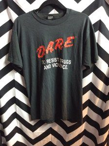 D.A.R.E. TO RESIST DRUGS AND VIOLENCE TSHIRT 1