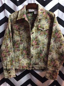 FLORAL PATTERN TAPESTRY JACKET 1