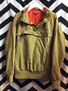 BROWN RED LINING JACK THREADS FANCY PULLOVER WINDBREAKER 1