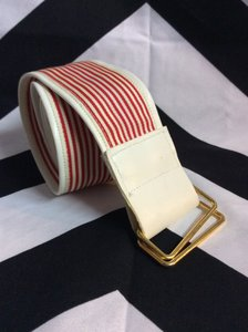RETRO RED AND WHITE STRIPES FABRIC BELT 1