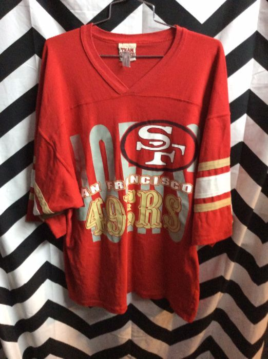 d7a7eada417 SAN FRANCISCO 49ERS T-SHIRT JERSEY » Boardwalk Vintage