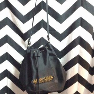 NYLON MOSCHINO BUCKET BAG METAL HARDWARE 1