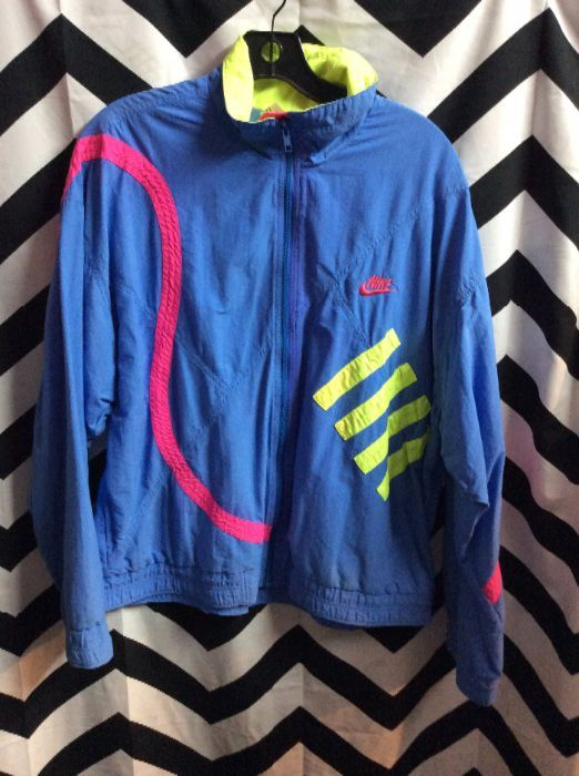 8b5201ec99ce NIKE WINDBREAKER - COTTON - NEON COLORS - APPLIQUE TRIM DESIGN ...