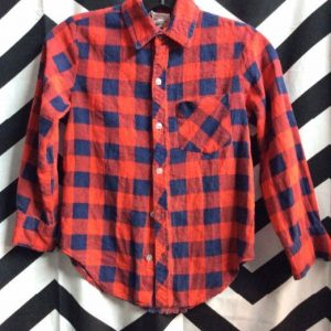 LS BD FLANNEL SHIRT EXTRA SMALL FIT 1