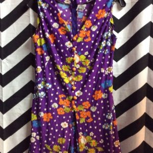 MINI DRESS 1960S STYLE PRINT 1