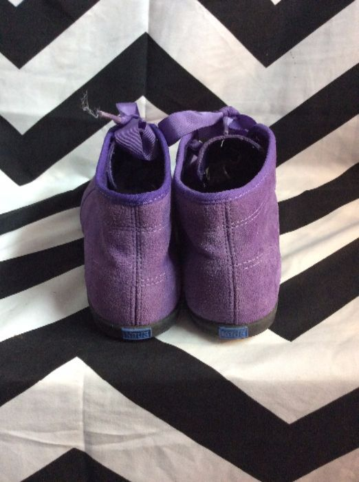 PURPLE KEDS SUEDE RIBBON LACEUP SHOES 3