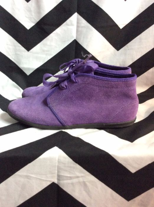 PURPLE KEDS SUEDE RIBBON LACEUP SHOES 2