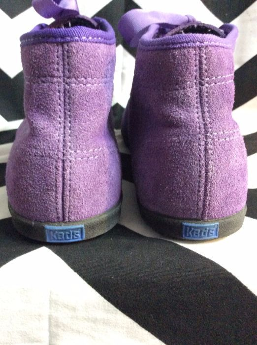 PURPLE KEDS SUEDE RIBBON LACEUP SHOES 4