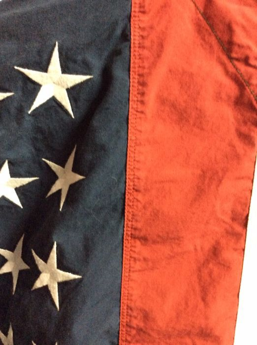 c8c8cdc9 TOMMY HILFIGER DENIM JACKET/SHIRT - W/MILITARY FRONT & AMERICAN FLAG ...