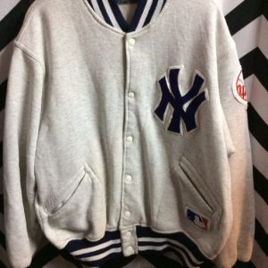 NY Yankees Jersey button up jacket 1