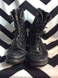 BLACK LEATHER GOODYEAR BOOTS 1