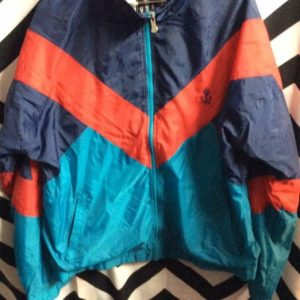 COLOR BLOCK USA OLYMPICS WINDBREAKER JACKET as-is 1