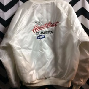 SATIN HEARTBEAT OF AMERICA CHEVY JACKET 1