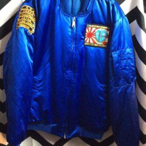 Blue Navy Tour Korea Souvenir Jacket 1