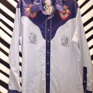 Aztec Embroidered Design Western Shirt 1