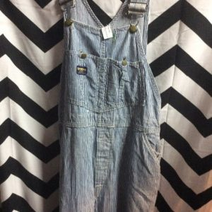 CONDUCTOR STRIPED OVERALLS as-is 1