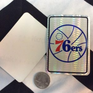 STICKER 76ERS VENDING CARD *old stock 1