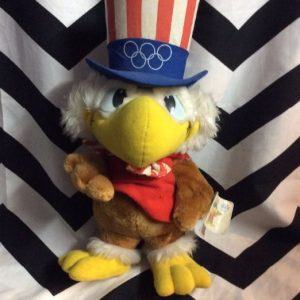 1984 LA Summer Olympics Sam the Eagle Stuffed animal *deadstock w tags 1