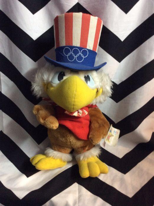 1984 La Summer Olympics Stuffed Animal Sam The Eagle Boardwalk